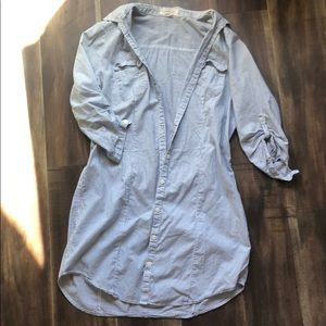Dresses & Skirts - Preppy blue and white striped dress
